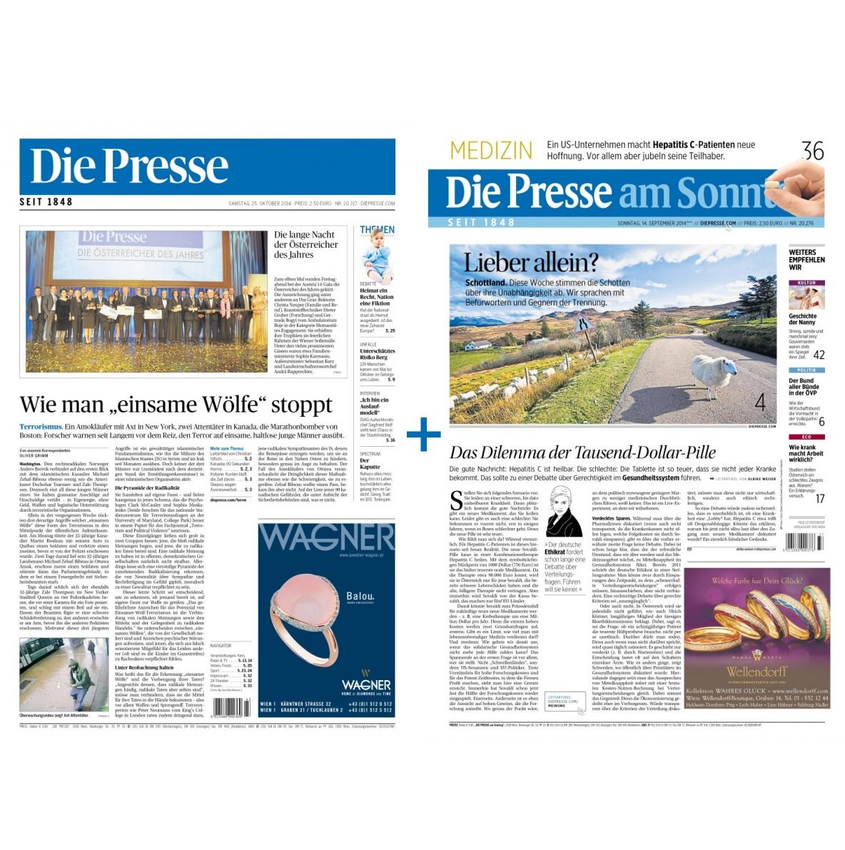 Die Presse inkl. Die Presse am Sonntag